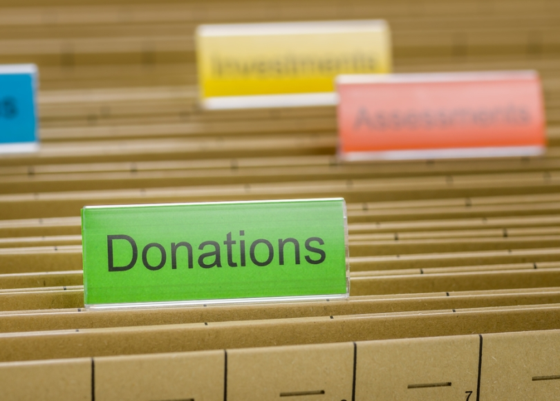 Making donations to cancer charities